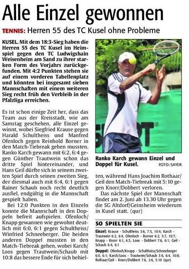Quelle: Verlag: DIE RHEINPFALZ Publikation: Westricher Rundschau Ausgabe: Nr.117 Datum: Montag, den 21. Mai 2012 Seite: Nr.19