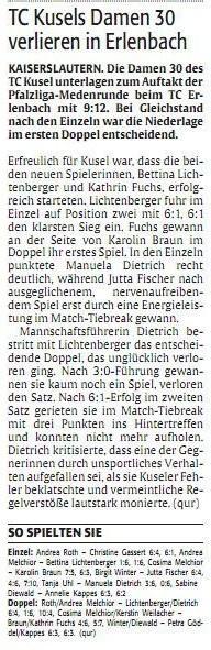 Quelle: Verlag: DIE RHEINPFALZ Publikation: Westricher Rundschau Ausgabe: Nr.105 Datum: Dienstag, den 07. Mai 2013 Seite: Nr.14