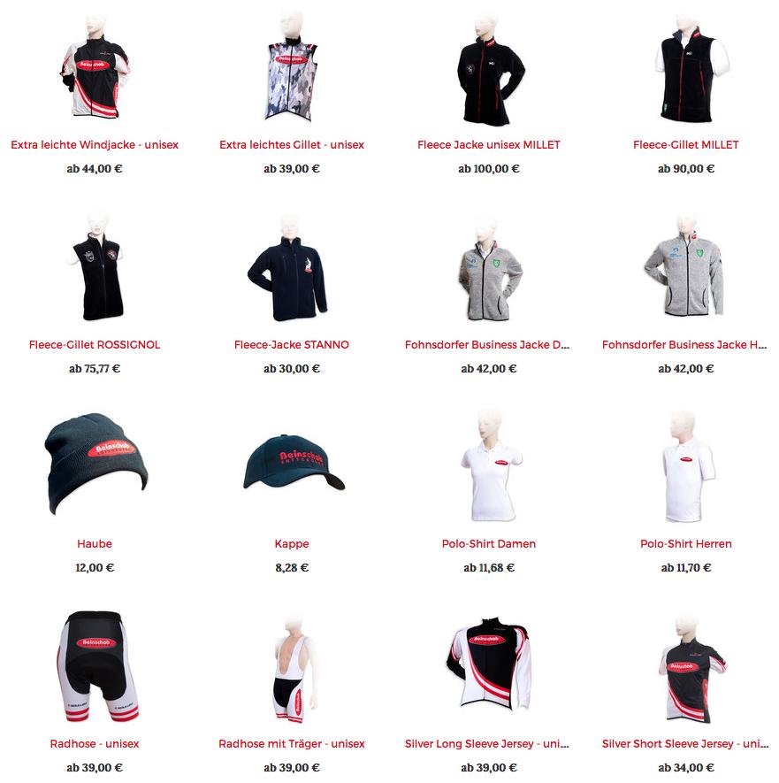 Produktübersicht des Shops MeinBeinschab.at - Windjacke, Gillet, Fleece-Jacke usw