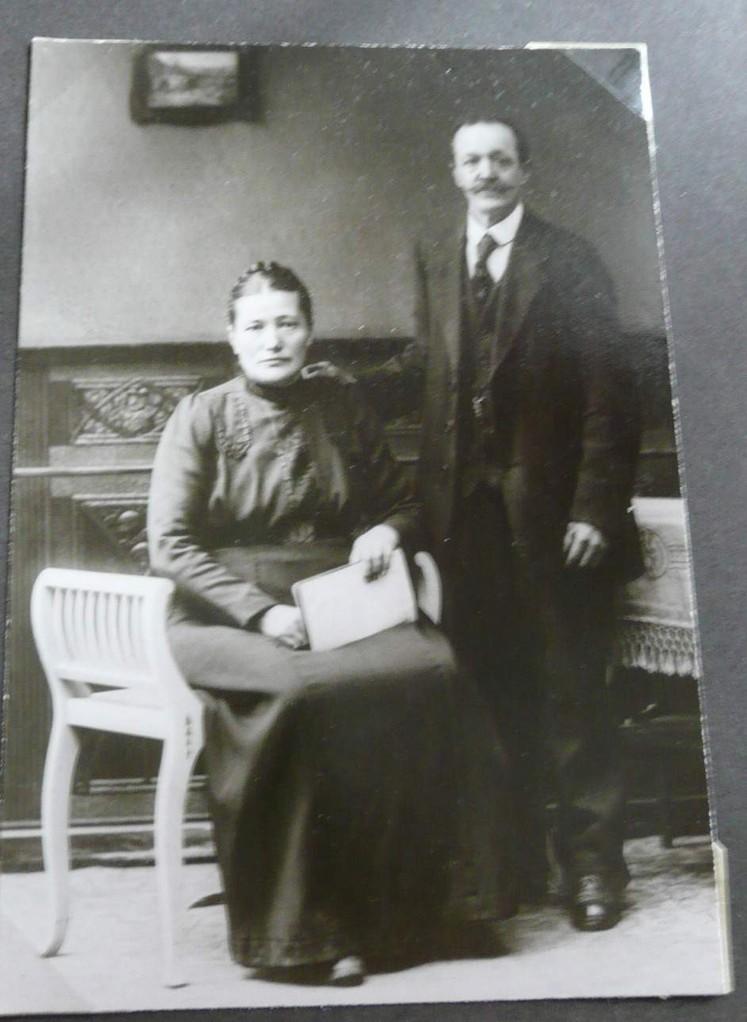 meine Urgroßeltern - Andreas Pflüger und Charlotte Pflüger (geb. Koob)
