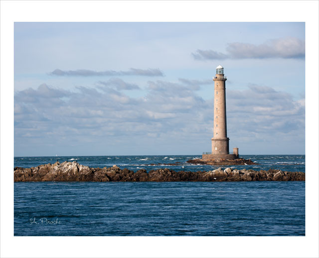Le phare - Normandie - Toile 73x50