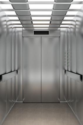 ascensore con illuminazione led