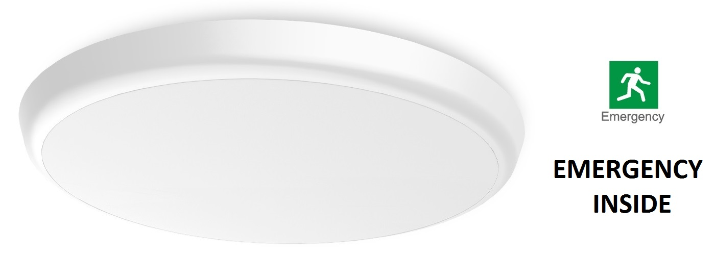 LED CEILING LIGHT WITH EMERGENCY INTEGRATED