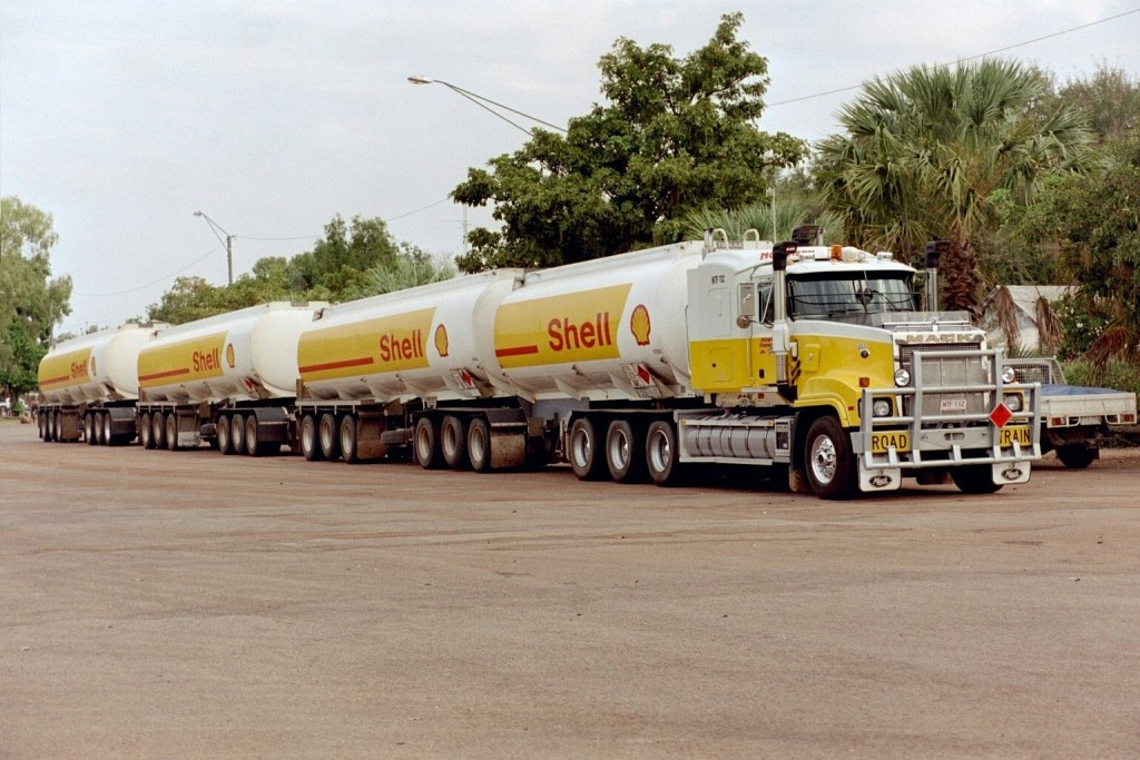 Road Train in Alice Springs