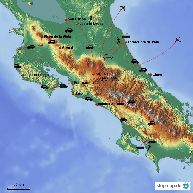 Costa Rica Reise 2004