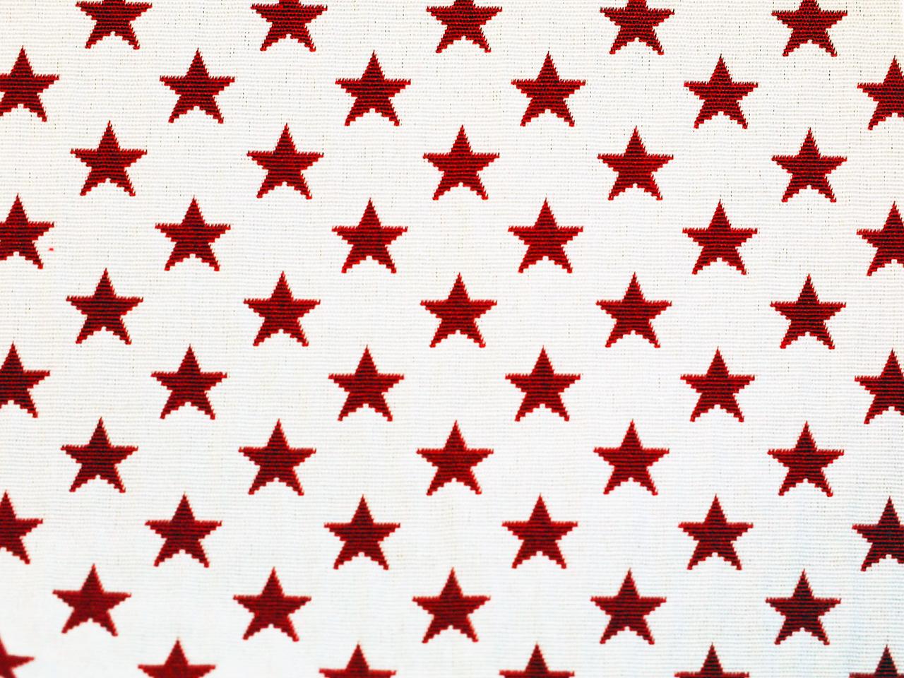 Sterne, rot auf weiß, Stoff Rückseite, Leckerlibeutel, Perlen vor die Hunde