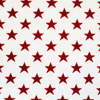 Sterne, rot auf weiß, Stoff Rückseite Leckerlibeutel von Perlen vor die Hunde