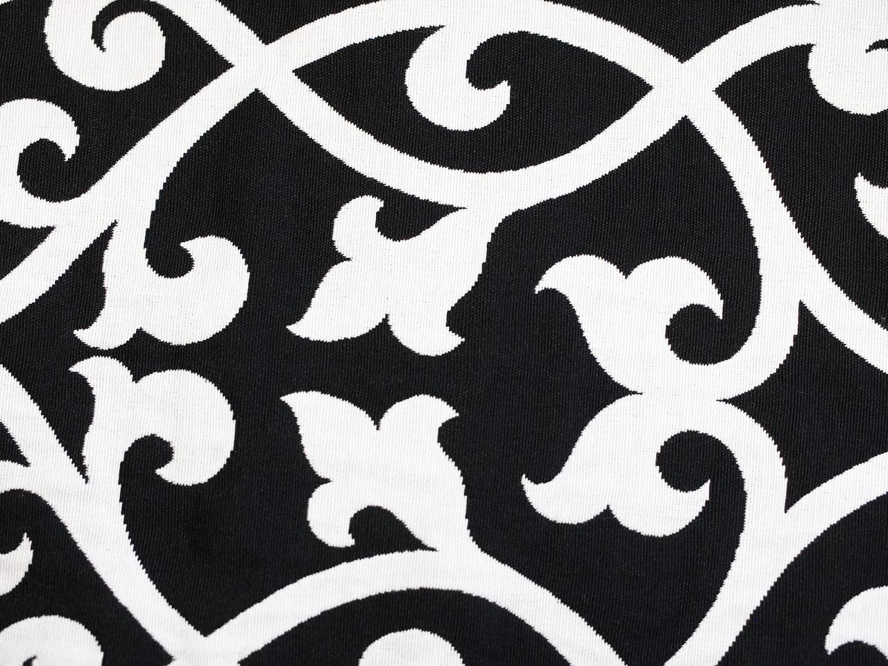 Ornamente, schwarz auf weiß, Stoff Rückseite, Leckerlibeutel, Perlen vor die Hunde