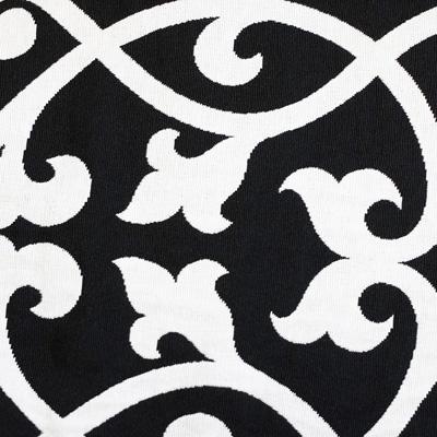 Ornamente, weiß auf schwarz, Stoff Rückseite, Leckerlibeutel, Perlen vor die Hunde
