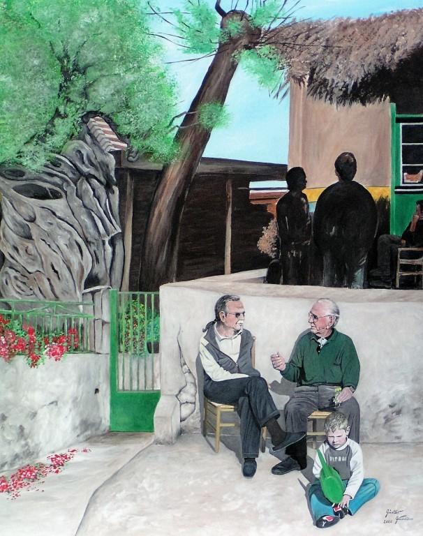 Feierabend, 100x120 cm, Acryl auf Leinwand, 2006