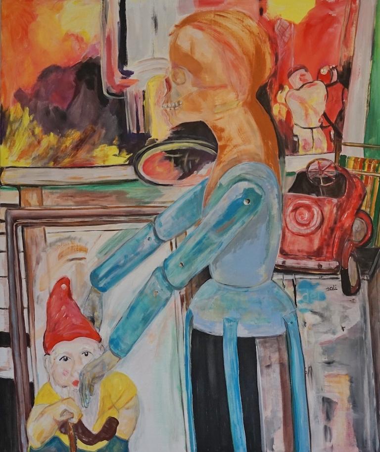 der Handkuss, Acryl, 2021, 100x120 cm