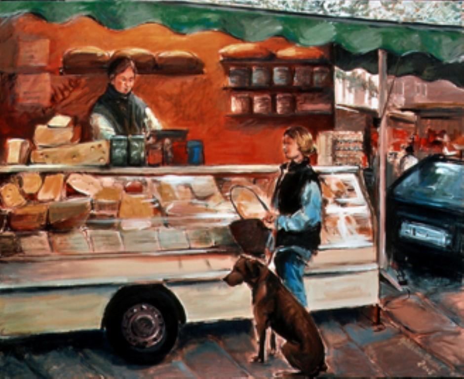 Marktstand, Acryl, 80x100