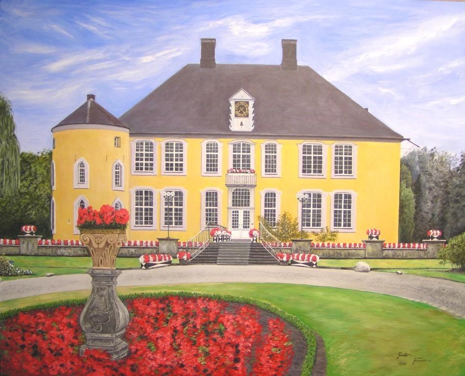 Schloss Diepenbrock, 100x80 cm, Acryl auf Leinwand, 2005