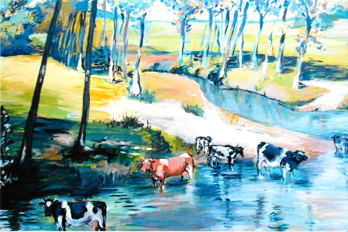 Berkel an Alfers Mühle, Acryl, 80x100