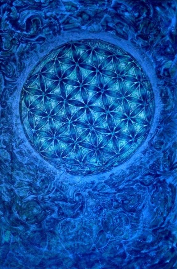 """Blume des Lebens"" - ""Flower of Life"" Acrylic 2007"