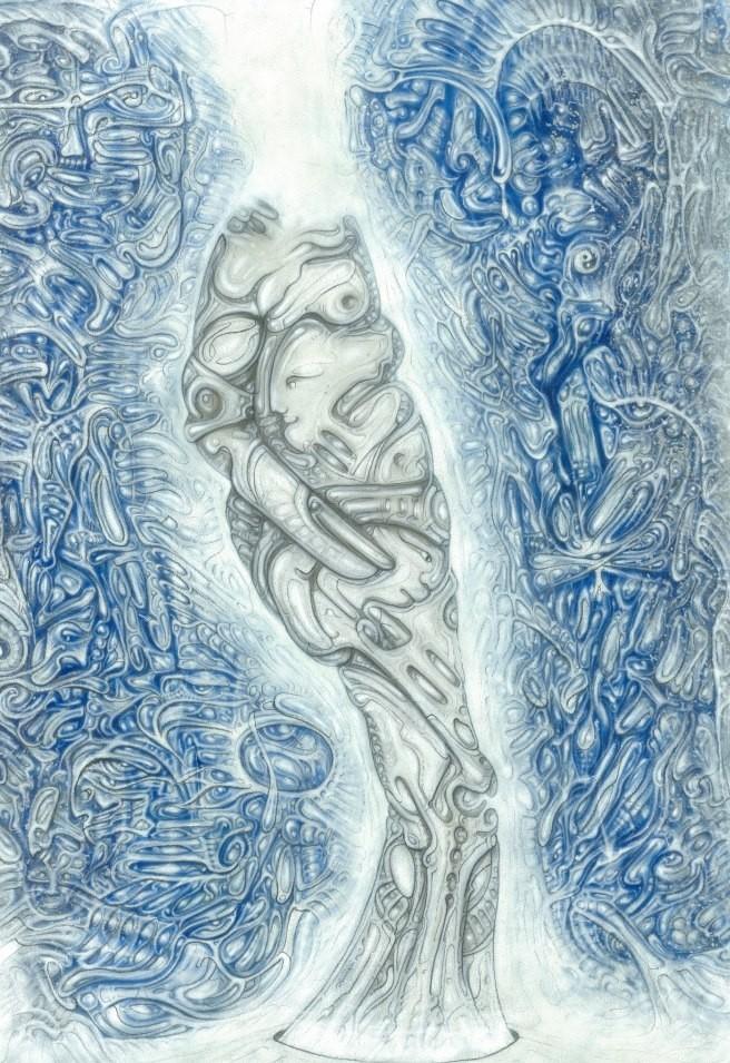 """Auflösung"" - ""Dissolving"" Acrylic 2001"