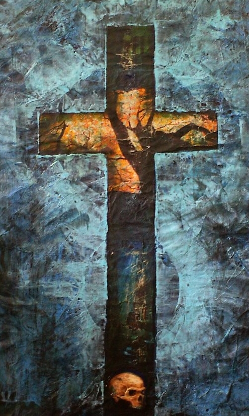 """Kreuz"" - ""Cross"" - Panart/Acrylic/Collage 2009"