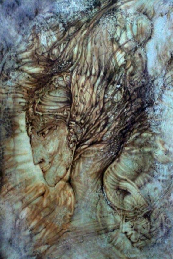 """Selbstportrait"" - ""Selfportrait"" - Acrylic 2009"