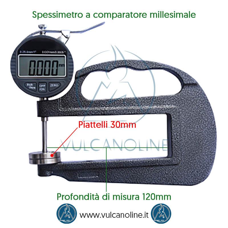 Misure spessimetro a comparatore millesimale
