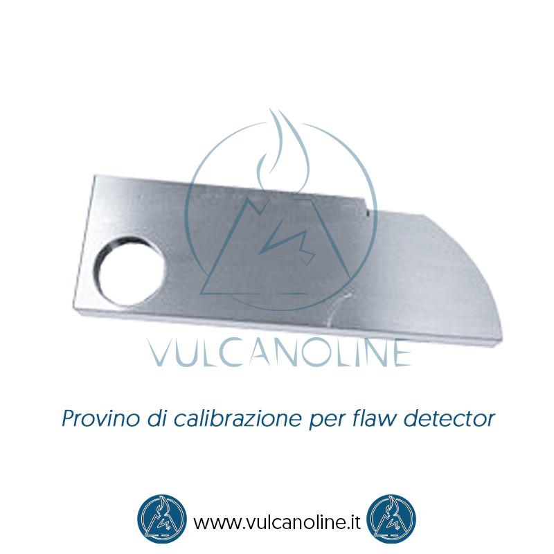Taratura blocco di calibrazione flaw detector
