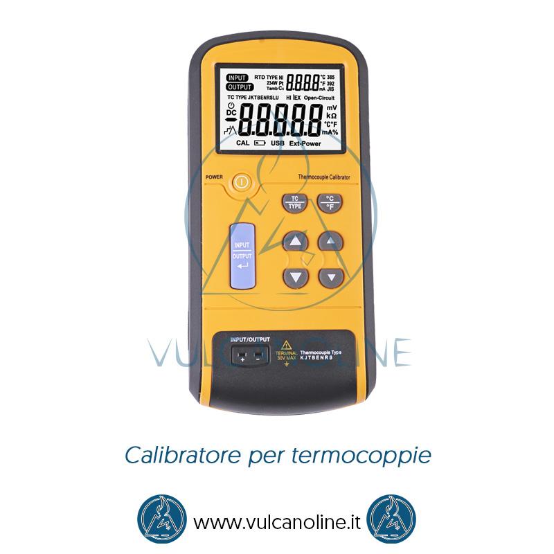Taratura calibratore per termocoppie