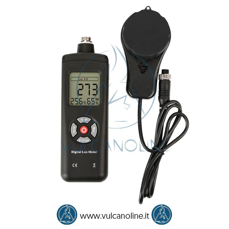 Luxmetro con funzione termoigrometro