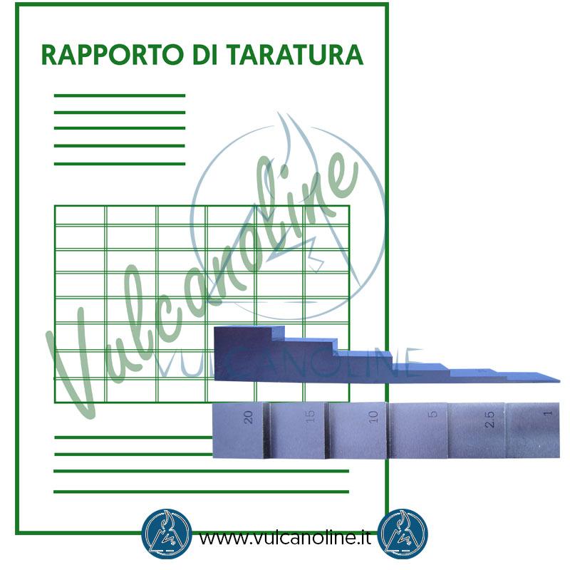 Taratura campione per spessimetro ad ultrasuoni