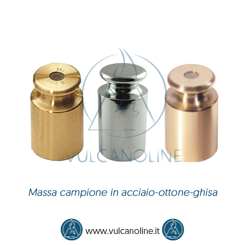 Taratura massa campione in acciao-ottone-ghisa