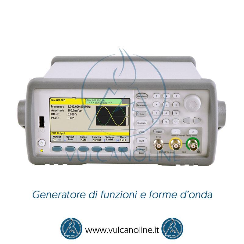 Taratura generatore di funzioni e forme onda
