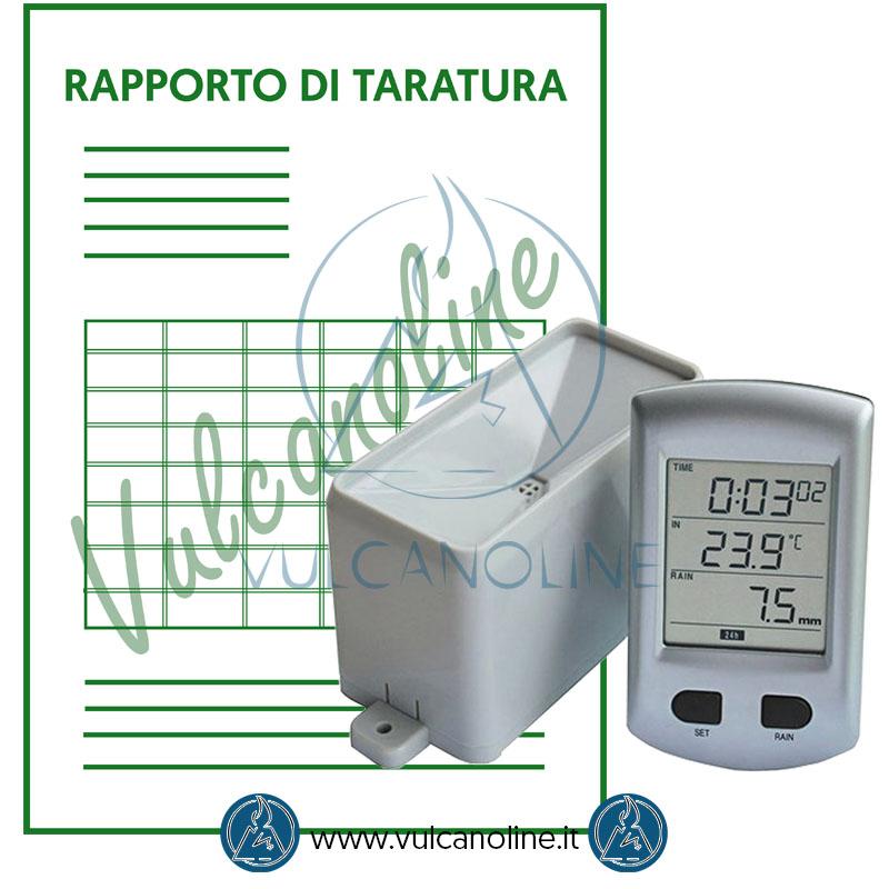 Taratura pluviometro
