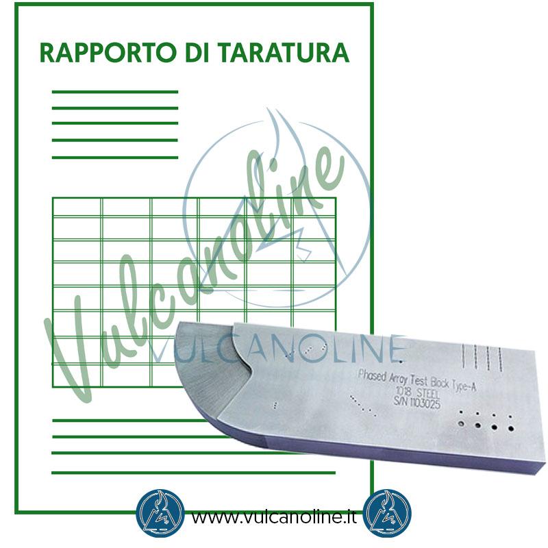 Taratura blocco di calibrazione rilevatore di difetti