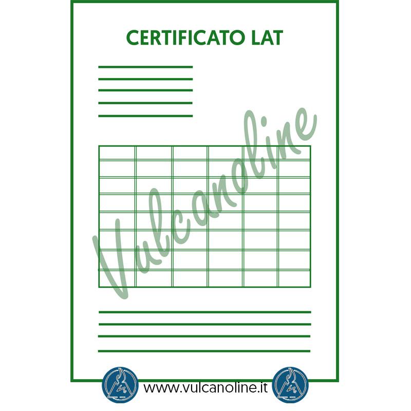 Certificato di taratura Accredia per blocchetti pianparalleli