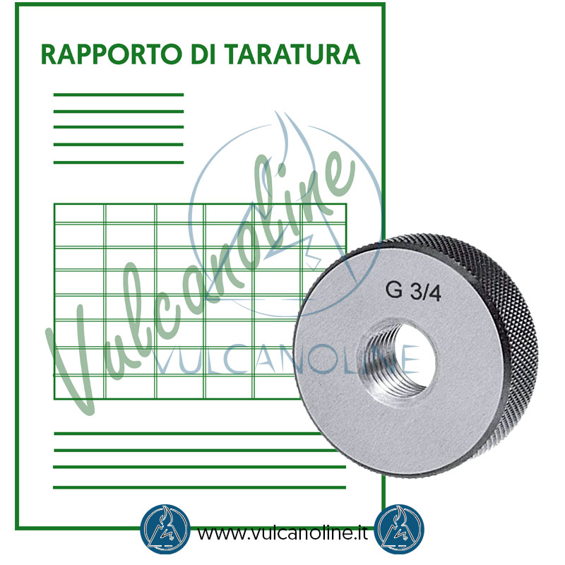 Taratura anello filettato conico npt e gas