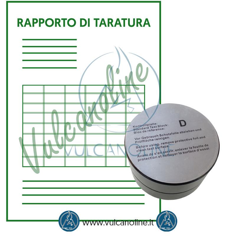 Taratura campione per durometro per metalli