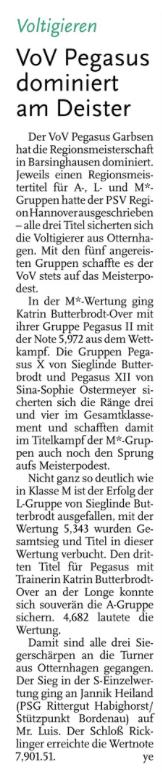 Leine-Zeitung 15.05.14