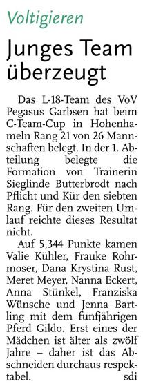 Leine-Zeitung, 27.06.2014