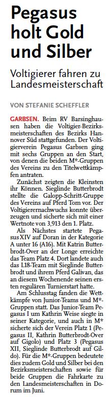Leine-Zeitung, 28.05.2015