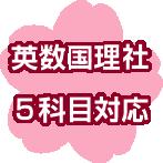 大阪府立高校入試 英数国理社5科目対応