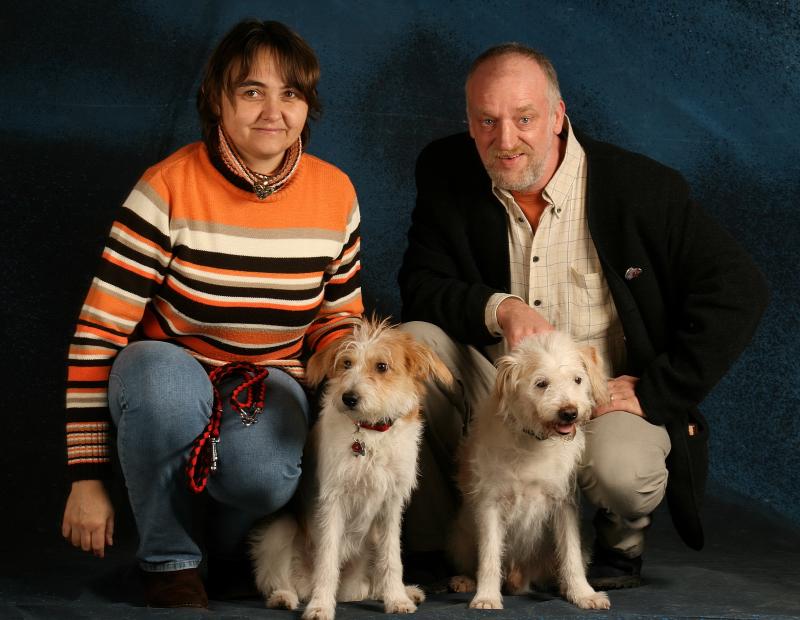 Susanne und Detlef mit Isa und Theo (März 2007)