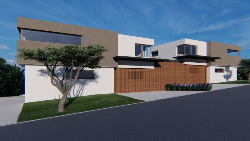 Animation eines Wohnhauses im CUBE-Stil