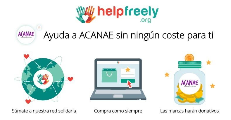 Ayuda a ACANAE con Helpfreely