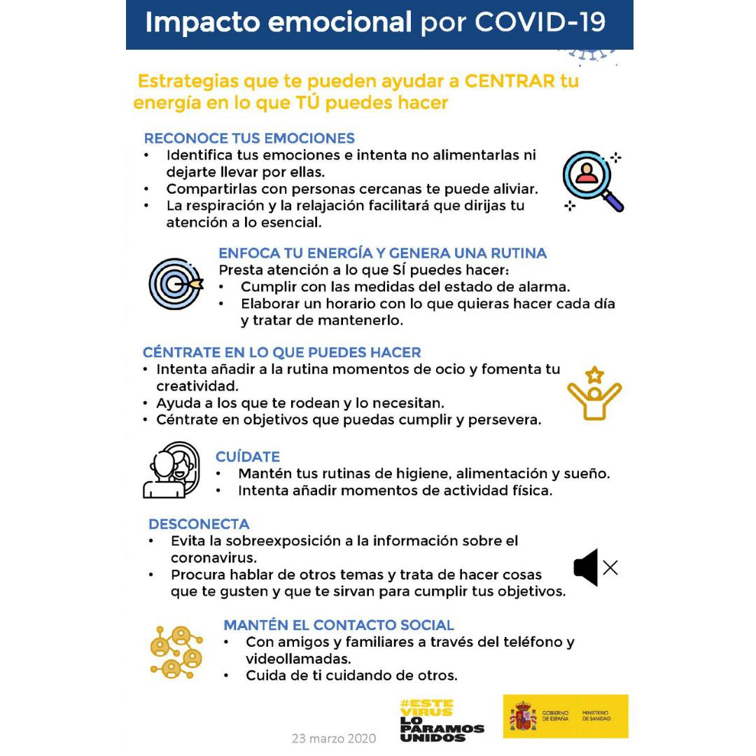 Impacto emocional por COVID-19 y cómo gestionarlo