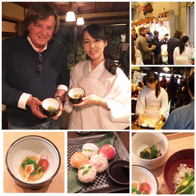 イタリア国営放送で伊スターに京料理を伝授
