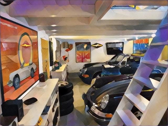 DAADAA Concept se charge de concevoir et de réaliser la décoration vintage  racing de votre garage.