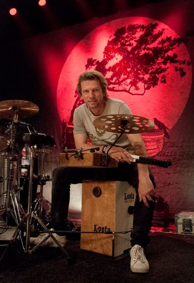 Rainer Schumann, Fury, Loota Percussion Cajon, Drumset