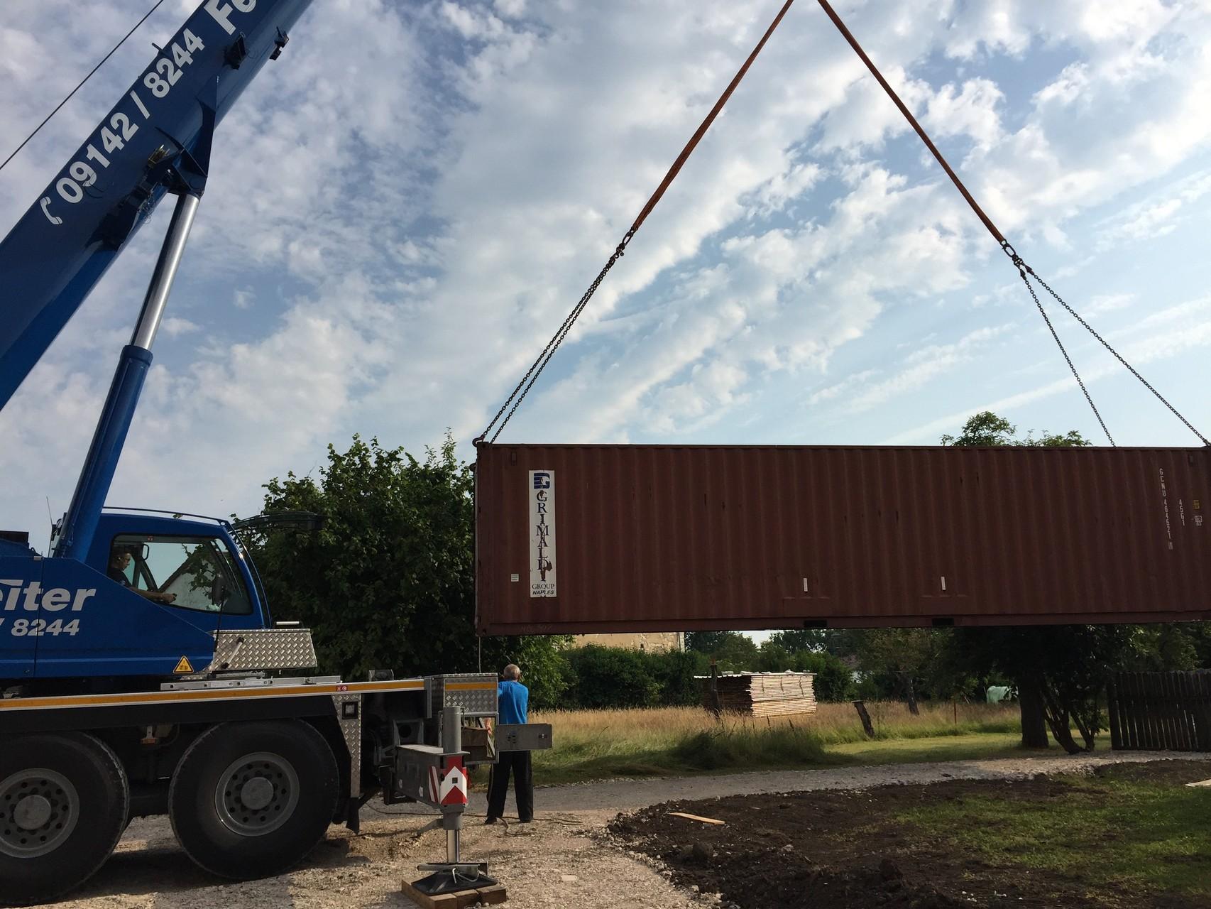 Versetzen des Lagercontainers
