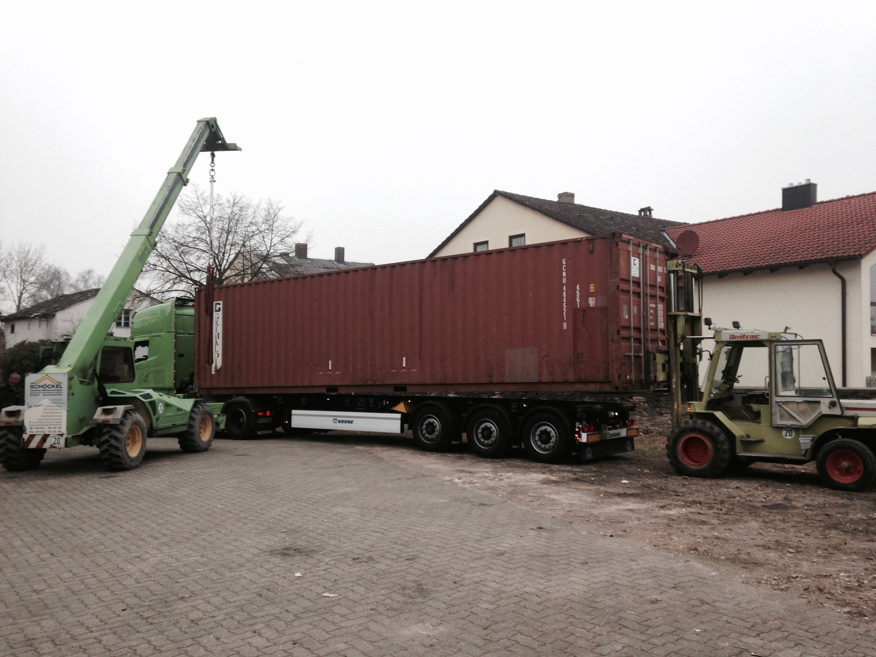 Lieferung Lagercontainer für Rohrmaterial