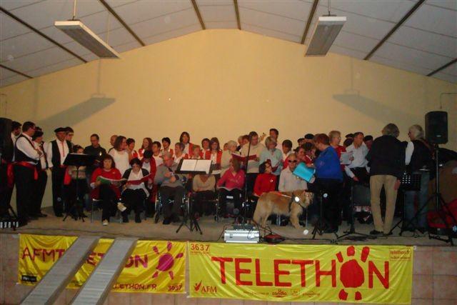 Tous ensemble pour chanter l'Immortelle auTéléthon d'Hibarette
