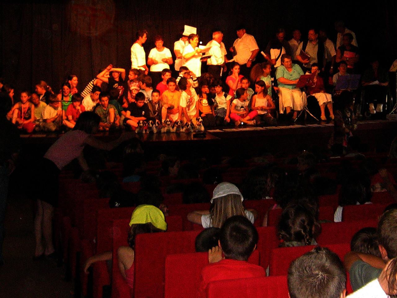 Fête de la musique avec les élèves de l'école de Séméac et la chorale Lourres Lourouch du Bach Adour de Sarniguet  21 juin 2007