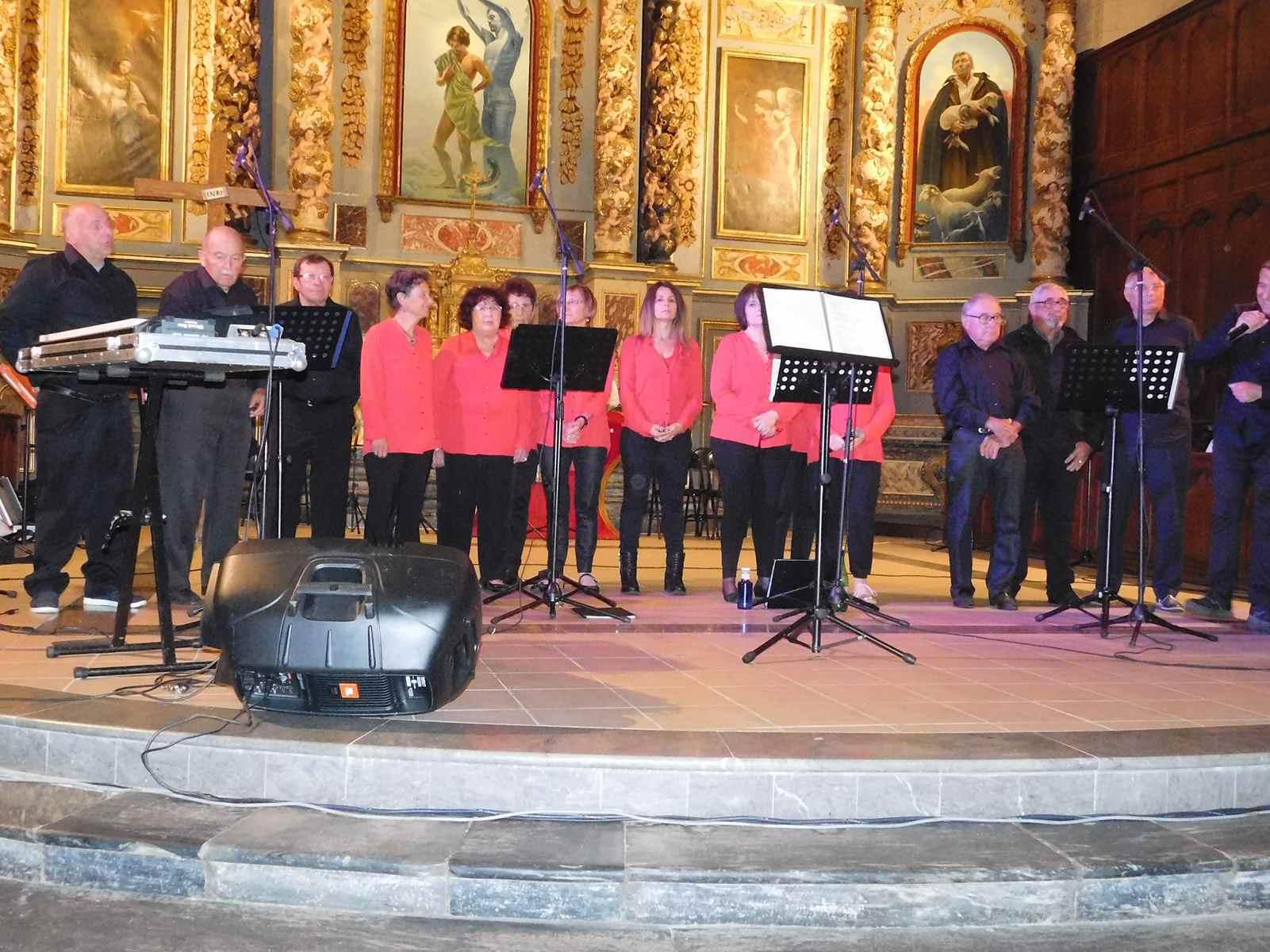 Avec la chorale La Clef des Chants d'Orleix